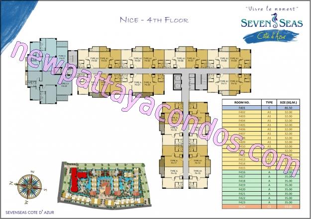 Seven Seas Cote D Azur Condo Floor Plans Nice Building